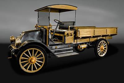 Photograph - 1916 International Harvester Company Truck   -  1916intharvtruckgry171952 by Frank J Benz