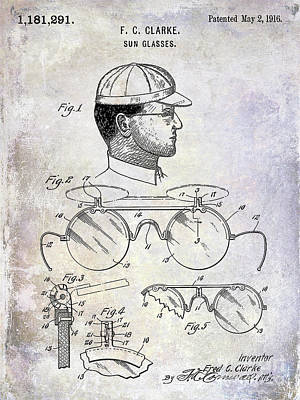 Ny Yankees Photograph - 1916 Sunglasses Patent by Jon Neidert