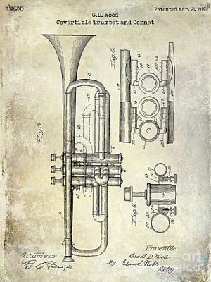 1916 Trumpet Patent Art Print