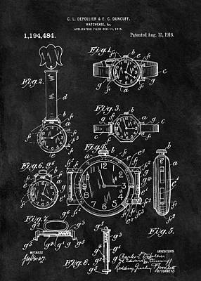 1916 Watch Design Art Print by Dan Sproul