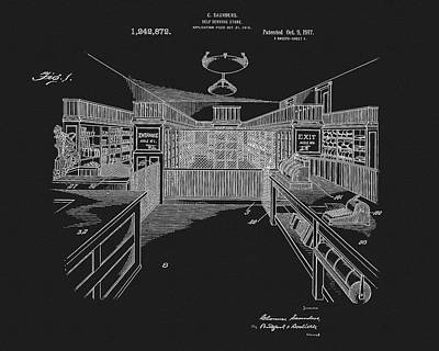 1917 General Store Patent Print by Dan Sproul