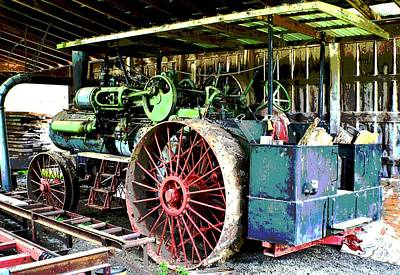 Photograph - 1918 Case Steam Tractor by Deena Stoddard