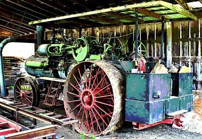 Photograph - 1918 Case Steam Tractor by Deena Stoddard