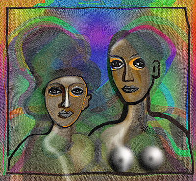 Digital Art - 1918 - Portraits 2017 by Irmgard Schoendorf Welch