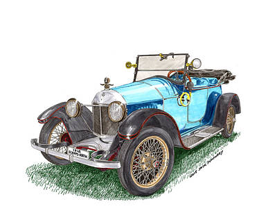 Painting - 1918 Scripps Booth Model D Roadster by Jack Pumphrey