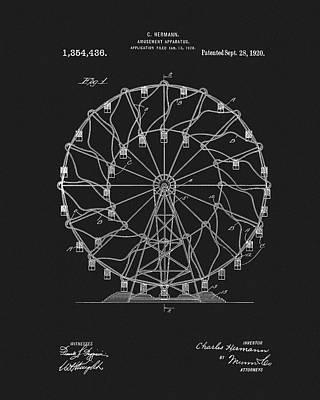 Youth Mixed Media - 1920 Ferris Wheel by Dan Sproul