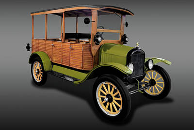Photograph - 1920 Ford Model T Depot Hack   -   1920forddepothackfa171944 by Frank J Benz