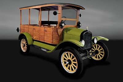 Photograph - 1920 Ford Model T Depot Hack   -   1920mdltforddepothackgry171944 by Frank J Benz