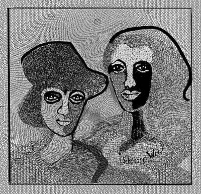 Digital Art - 1920 - Indestructible Women  2017 by Irmgard Schoendorf Welch