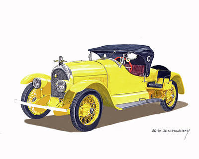 Painting - 1920 Kissel Gold Bug Speedster by Jack Pumphrey