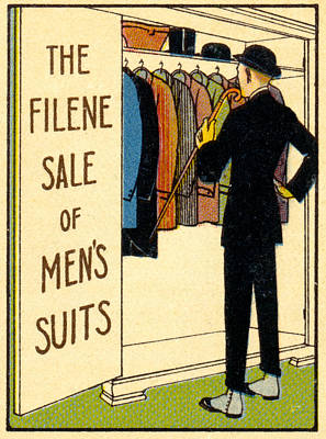Painting - 1920 Mens's Suites On Sale by Historic Image