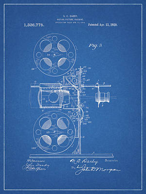 Drawing - 1920 Movie Projector by Dan Sproul