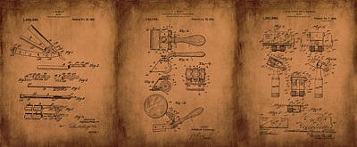 Mixed Media - 1920 Patent Razor Art Mcnaulty Manley Browning by Lesa Fine