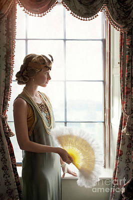 Photograph - 1920s Flapper Girl At The Window by Lee Avison