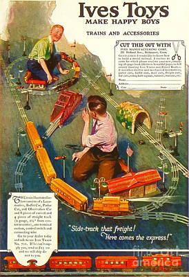 1920's Ives Toys Advertisement Original