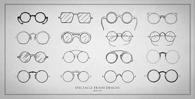 Optometrists Photograph - 1920s Spectacle Designs by Mark Rogan