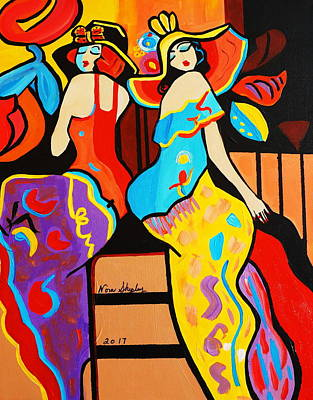 Painting - 1920's  Stepping Out by Nora Shepley