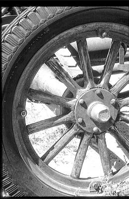 Photograph - 1920's Wheel by Gary Brandes