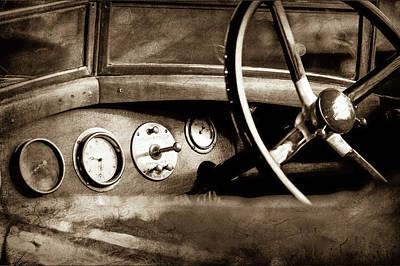 Photograph - 1921 Bentley Steering Wheel -0454s by Jill Reger