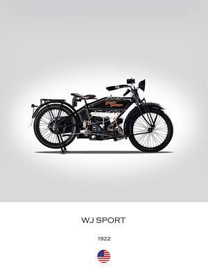 Harley Davidson Photograph - 1922 Harley Wj Sport by Mark Rogan
