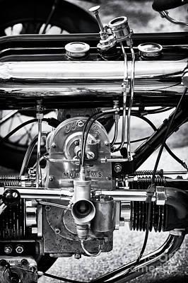 1922 Model Ws Brough Monochrome Art Print