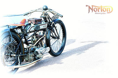 Photograph - 1922 Norton 16h by Tim Gainey