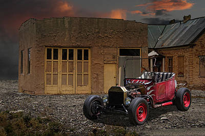 1922 T-bucket Rat Rod Art Print by Nick Gray