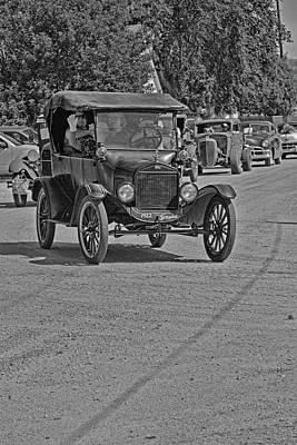 Photograph - 1922 Tin Lizzie Monochrome by Alana Thrower