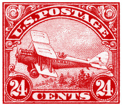 Painting - 1923 De Havilland Biplane Stamp by Historic Image