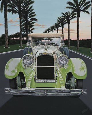 Painting - 1923 Duesenberg Model A Touring by Branden Hochstetler