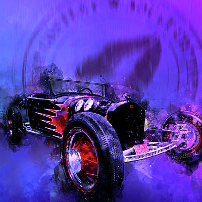 Digital Art - 1923 Ford Model T Rat Rod Roadster Rumble Rated R by Chas Sinklier