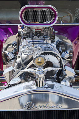 Purple Ford Photograph - 1923 Ford T-bucket Engine by Jill Reger