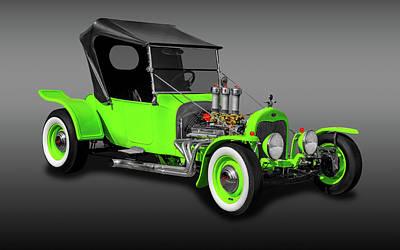 1923 Ford T-bucket Roadster  -  1923fdtbucketfa9997 Art Print