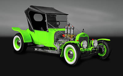 Photograph - 1923 Ford T-bucket Roadster  -  1923tbucketfordgry9997 by Frank J Benz