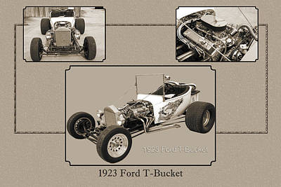 Photograph - 1923 Ford T-bucket Vintage Classic Car Photograph 5690.01 by M K  Miller