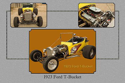 Photograph - 1923 Ford T-bucket Vintage Classic Car Photograph 5690.02 by M K  Miller