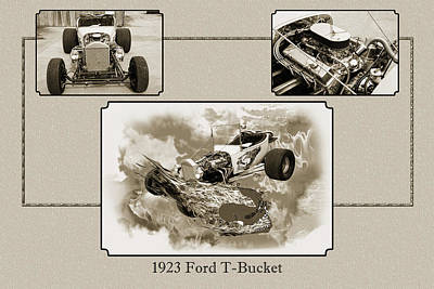 Photograph - 1923 Ford T-bucket Vintage Classic Car Photograph 5691.01 by M K  Miller