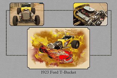 Photograph - 1923 Ford T-bucket Vintage Classic Car Photograph 5691.02 by M K  Miller