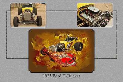 Photograph - 1923 Ford T-bucket Vintage Classic Car Photograph 5692.02 by M K  Miller