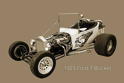 Photograph - 1923 Ford T-bucket Vintage Classic Car Photograph 5696.01 by M K  Miller