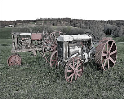 1923 Fordson Tractors Art Print by Mark Allen