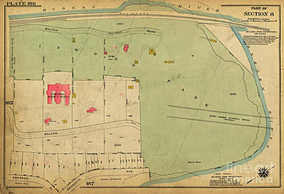 Photograph - 1923 Inwood Hill Map  by Cole Thompson