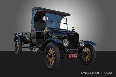 1923 Model T Ford Truck Art Print by Nick Gray