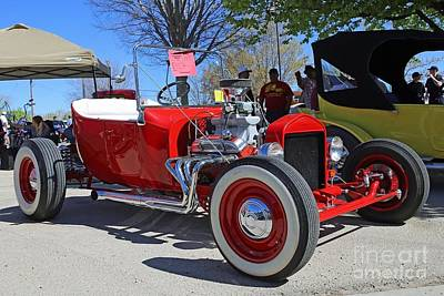 1923 Red Ford Model T Art Print by Blaine Nelson
