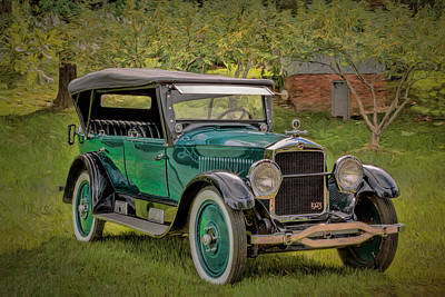 Photograph - 1923 Studebaker Big Six Touring Car by Susan Rissi Tregoning