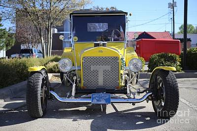 1923 Yellow Ford Model T Front Art Print by Blaine Nelson