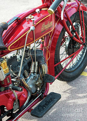 Gear Photograph - 1924 550cc Indian Scout by Tim Gainey