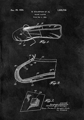 1924 Ballet Slipper Patent Print by Dan Sproul