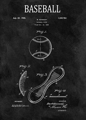 Drawing - 1924 Baseball Patent Illustration by Dan Sproul