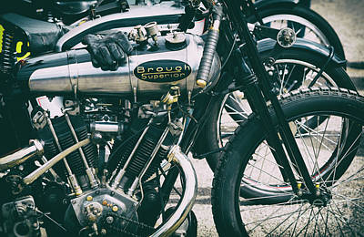 Photograph - 1924 Brough Superior Ktor Brooklands Racer by Tim Gainey